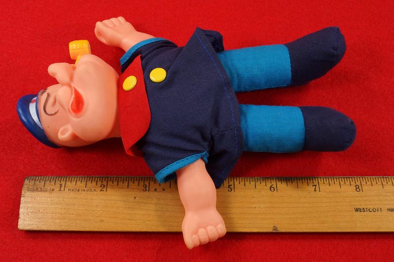 RD22249 Vintage Popeye Doll 1977 UD Co. Hong Kong 1977 7 inch DSC07814