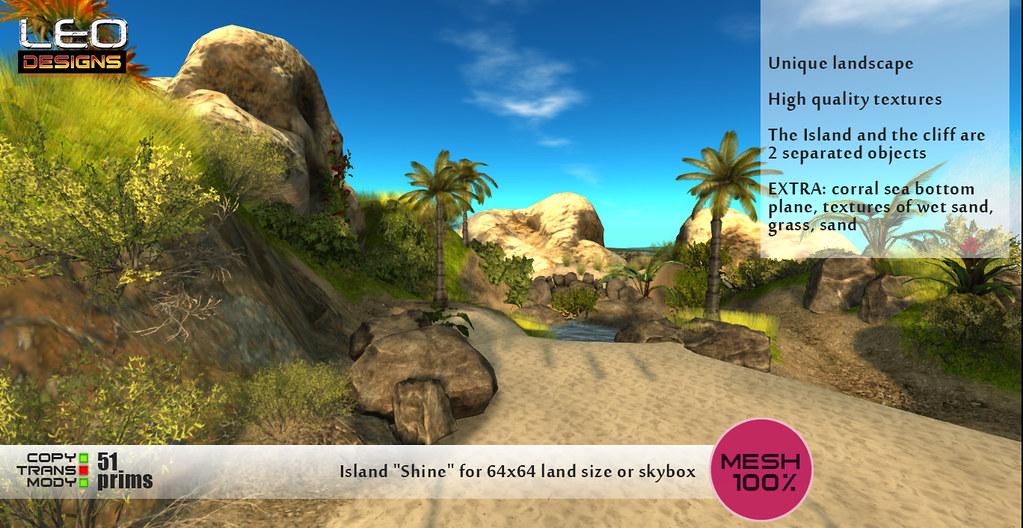 "Island ""Shine"": Leo Designs store (Second Life)"