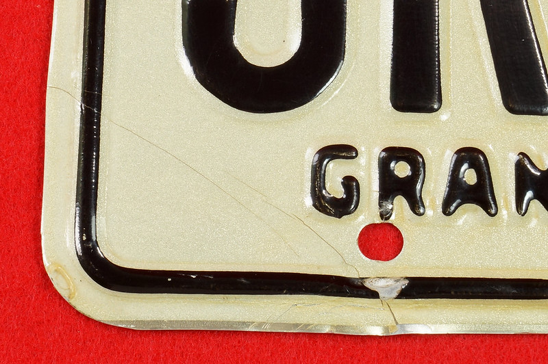 RD30315 Vintage 1966 Arizona License Plate JRE-850 Grand Canyon State DSC07833