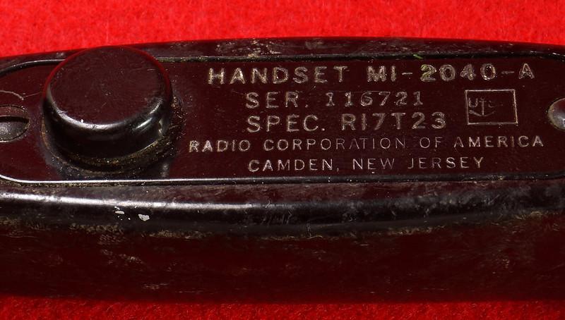 RD21859 Vintage RCA US NAVY Handset Ship Phone Radio Corp of America Telephone MI-2040-A DSC07864