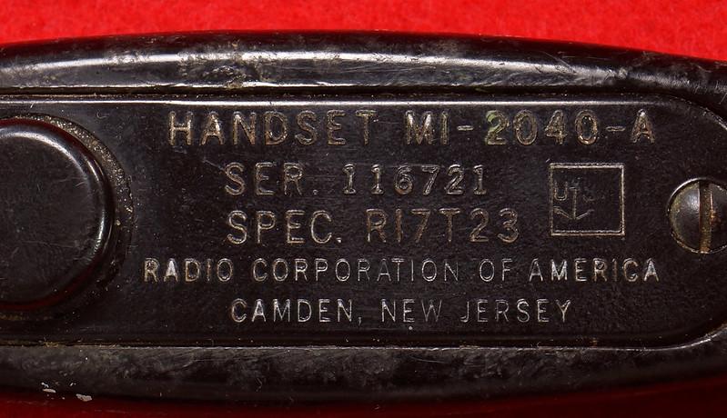 RD21859 Vintage RCA US NAVY Handset Ship Phone Radio Corp of America Telephone MI-2040-A DSC07863