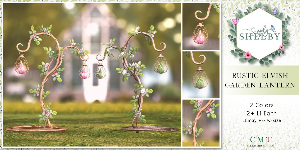 Simply Shelby Rustic Elvish Garden Lantern – SL17B EXCLUSIVE GIFT