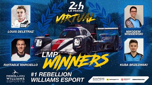 2020 Virtual 24 Hours of Le Mans LMP Winners