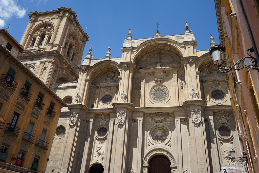 A part of the Cathedral of Granada - it is so big that it doesn't fit in one picture