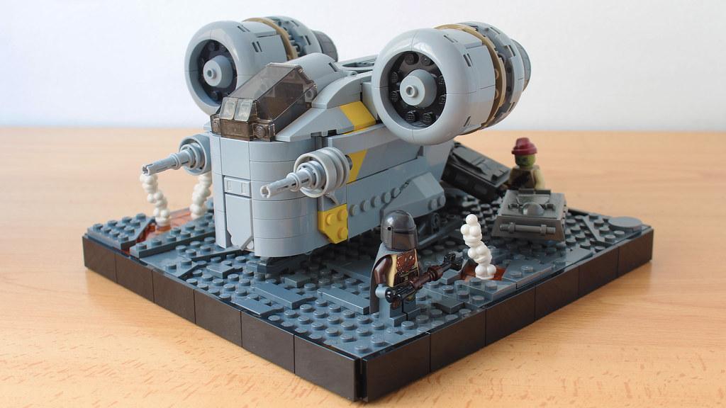 Lego Razor Crest in Chibi style