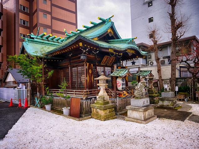 Little Temple in Tokyo, Japan