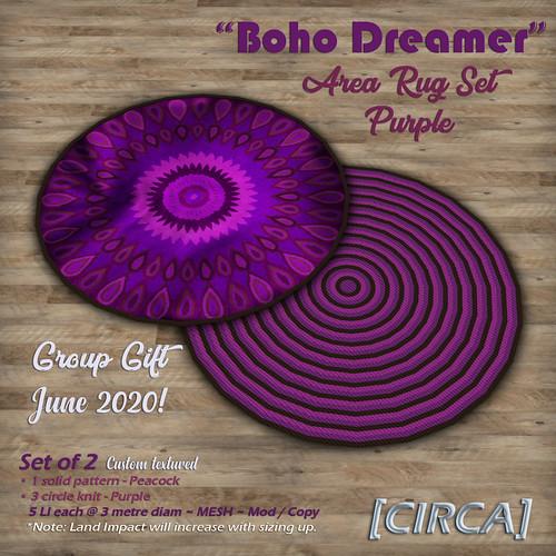"Group Gift @ [CIRCA] - ""Boho Dreamer"" Area Rug Set - Purple (GG June'20)"