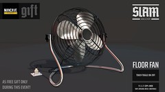 SLAM // floor fan // MAN CAVE GIFT (event limited)