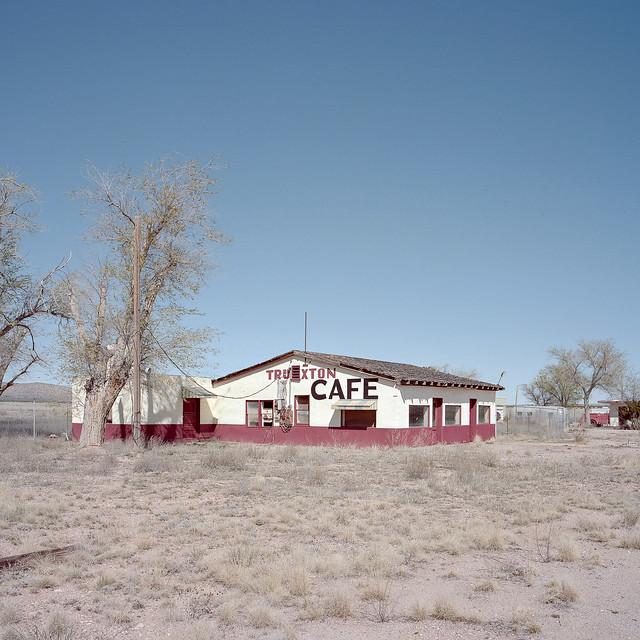 abandoned cafe / route 66. truxton, az. 2015.