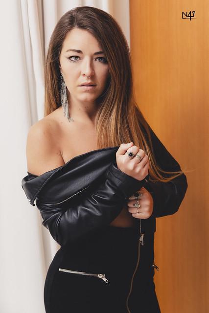 Alexandra - Hotel: Black leather jacket II