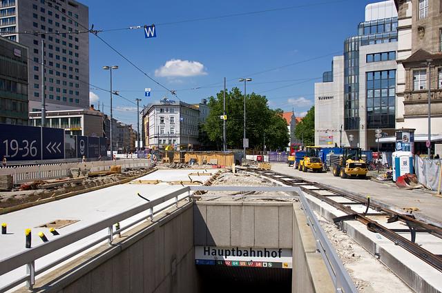 Baustelle Bahnhofplatz – 20200613