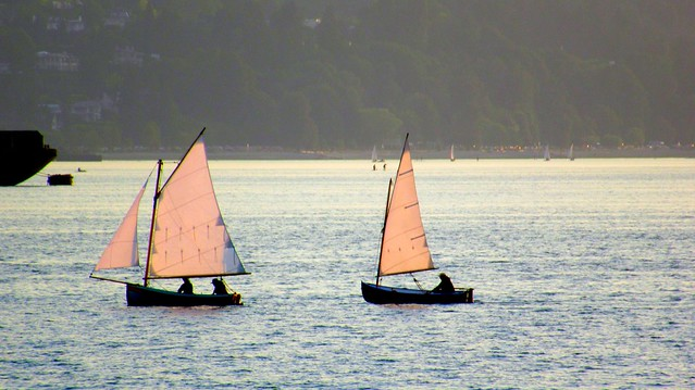English Bay sailing