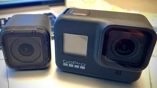 GoPro Hero4 Session and Hero8 Black