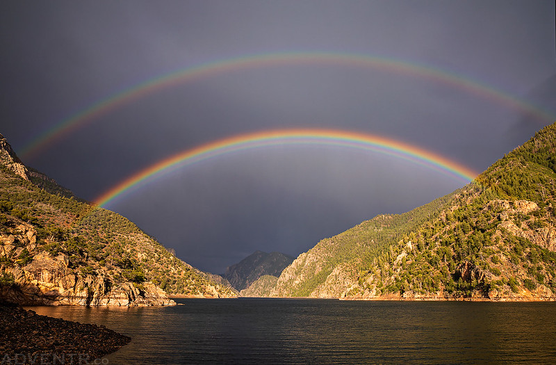 Morrow Point Reservoir Double Rainbow