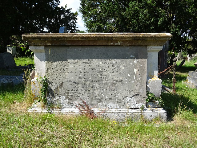 Monument to Savidge Family, (Chest Tomb)  in churchyard approximately 40 metres North of the chancel, Church of St Mary, Wedmore, Somerset