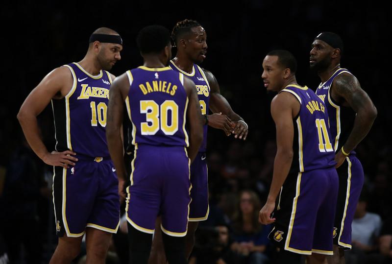 LeBron James(右起)、Avery Bradley、Dwight Howard。(達志影像資料照)