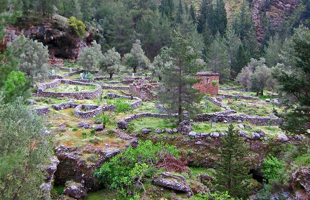 The Abandoned Town of Samaria - Samaria Gorge, Crete