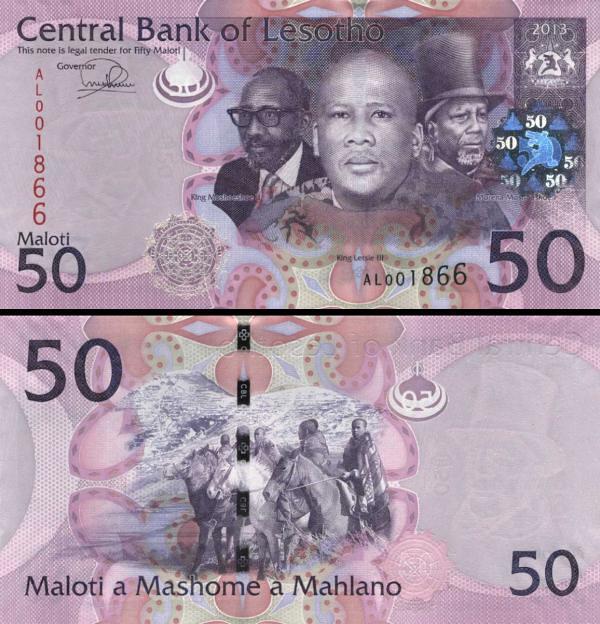 50 Maloti Lesotho 2013 P23b