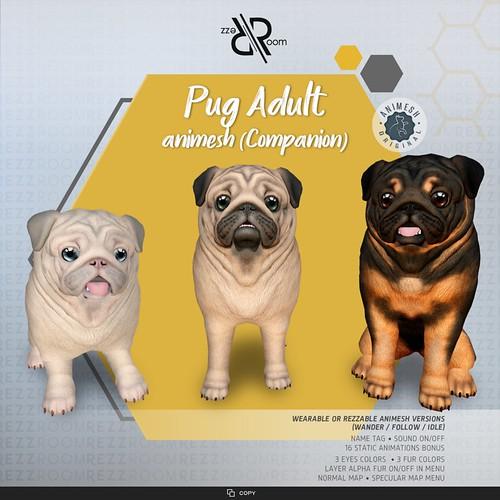 [Rezz Room]Pug Adult Animesh (companion)