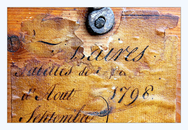 a label with history