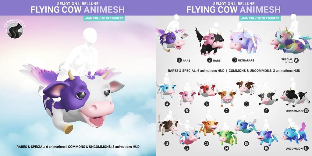 SEmotion Libellune Flying Cow Animesh