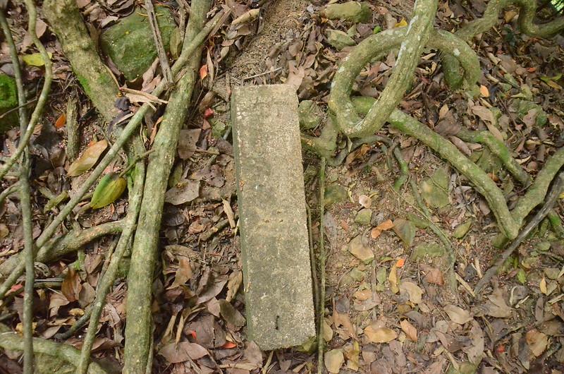 東坑山南峰山徑上清理地水泥柱(竹湖369(394?)