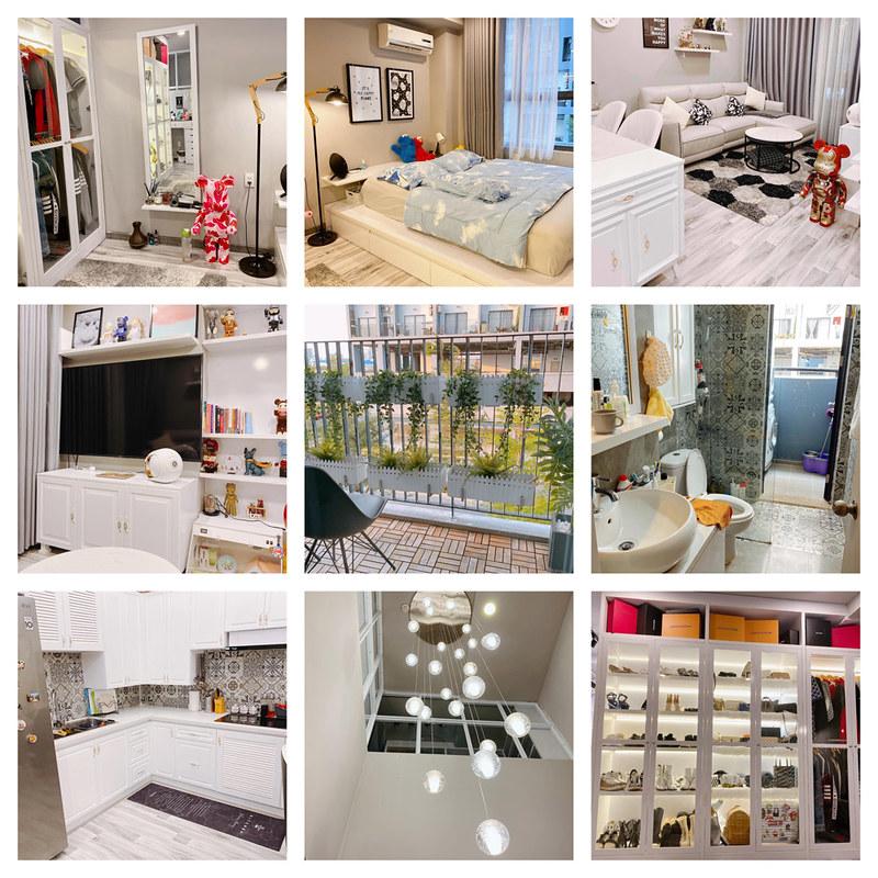 Ảnh thực tế căn hộ duplex officetel m-one Nam Sài Gòn, trần cao 6m, nhà đẹp full nội thất.