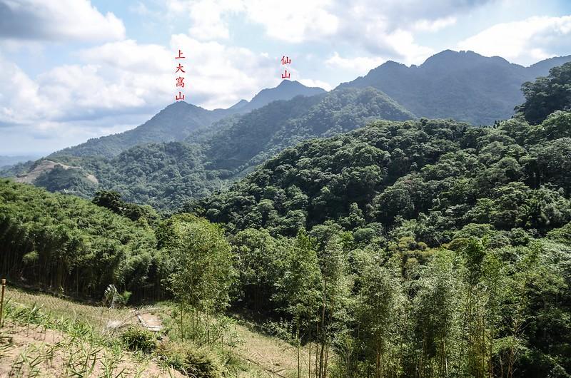 三份山東北遠眺仙山、大窩山、上大窩山稜線 (2)