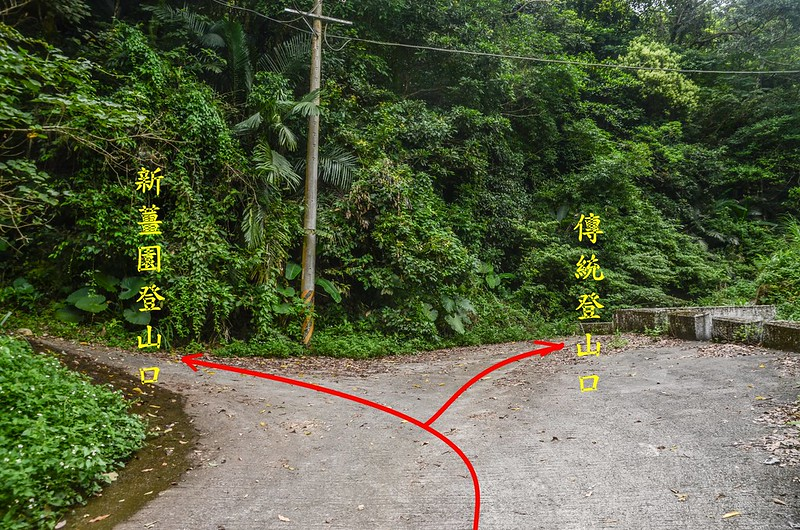 三份山行車傳統登山路線岔路