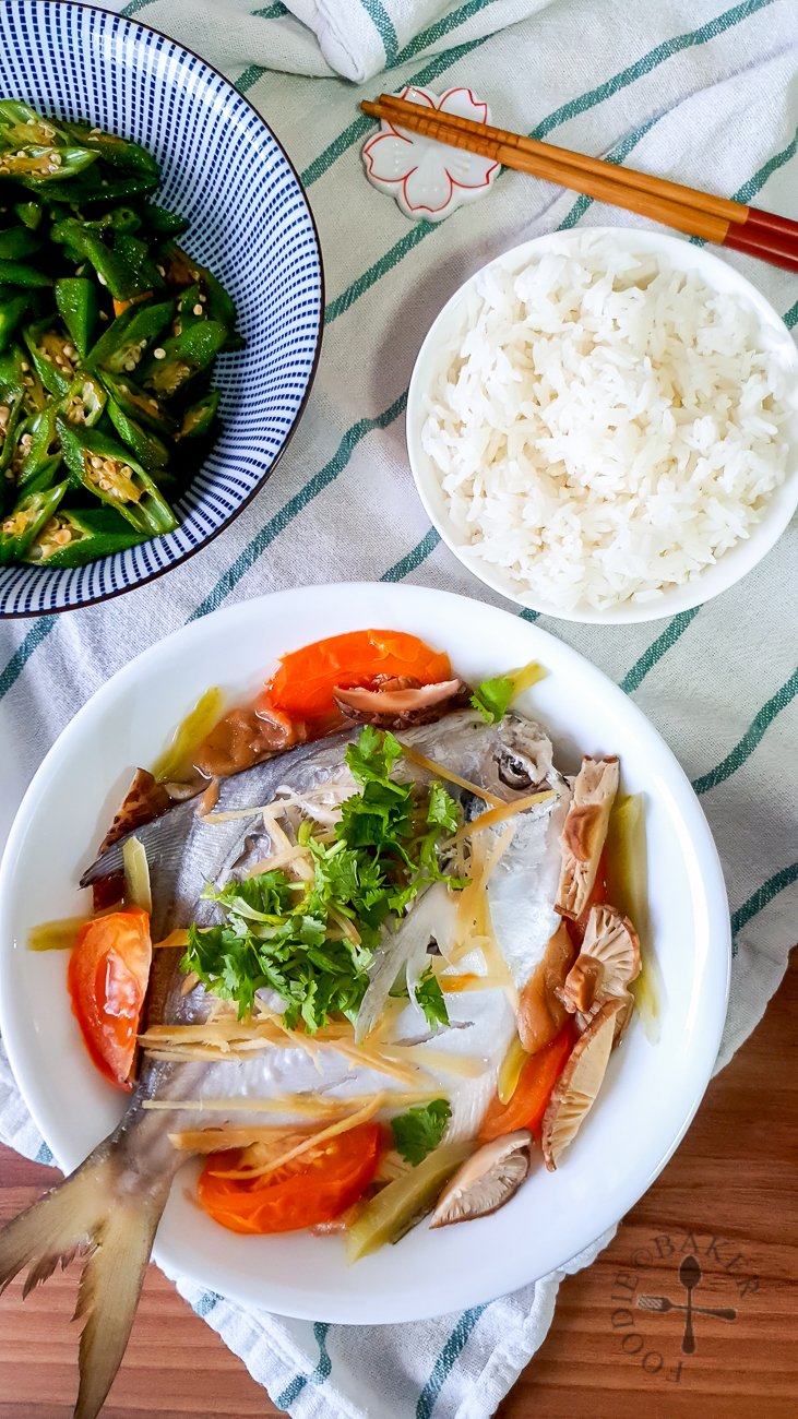 Mom's Teochew Steamed Pomfret