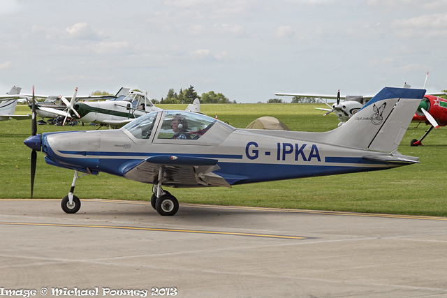 G-IPKA - 2005 build Alpi Aviation Pioneer 300, taxiing for departure at Sywell during AeroExpo 2013