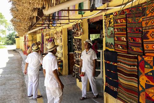 Blankets and hats, Chichen Itza, Mexico's Yucatán Peninsula