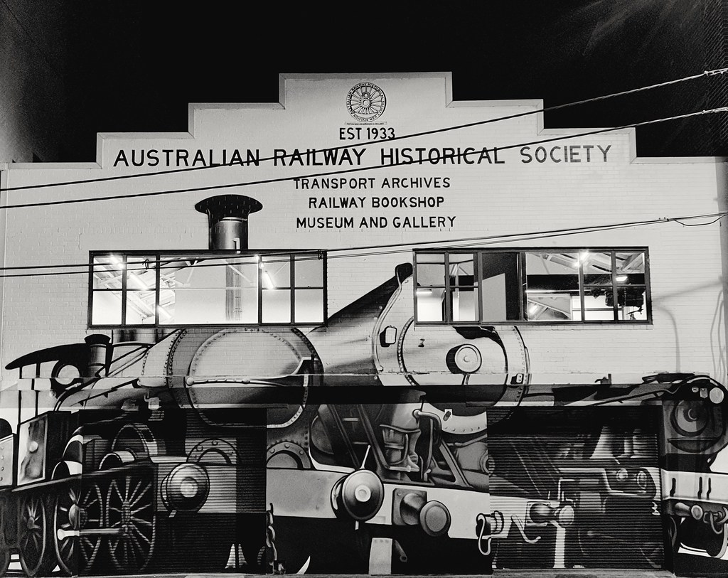 Train Street art facade - Australian Railway Historical Society (NSW) 5 Henderson Rd, Alexandria NSW