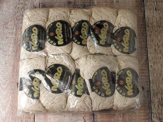 Destash yarn: Noro Cash Iroha silk, lambswool, cashmere yarn 50g balls – shade 1 ecru