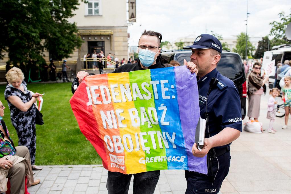 Flickr Greenpeace przeciw mowie nienawiści wobec osób LGBT | Flickr Twórca: Krzysztof Pacholak