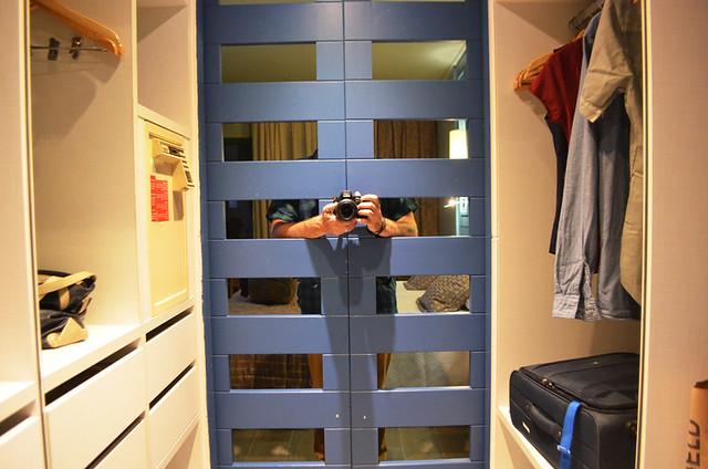 Walk in wardrobe, hotel