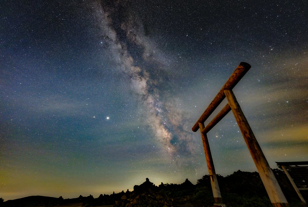 Milky Way at the mountaintop shrine