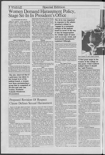 1985 Sexual Harassment Sit In