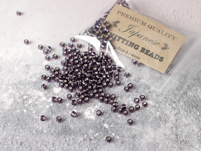 Japanese Knitting Beads size 6 (4mm) – Silver-lined Amethyst