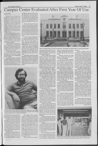 1988 Keefe Review in Amherst Student
