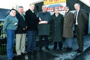 Presentation of £5,000 from Cavan Credit Union, 1996