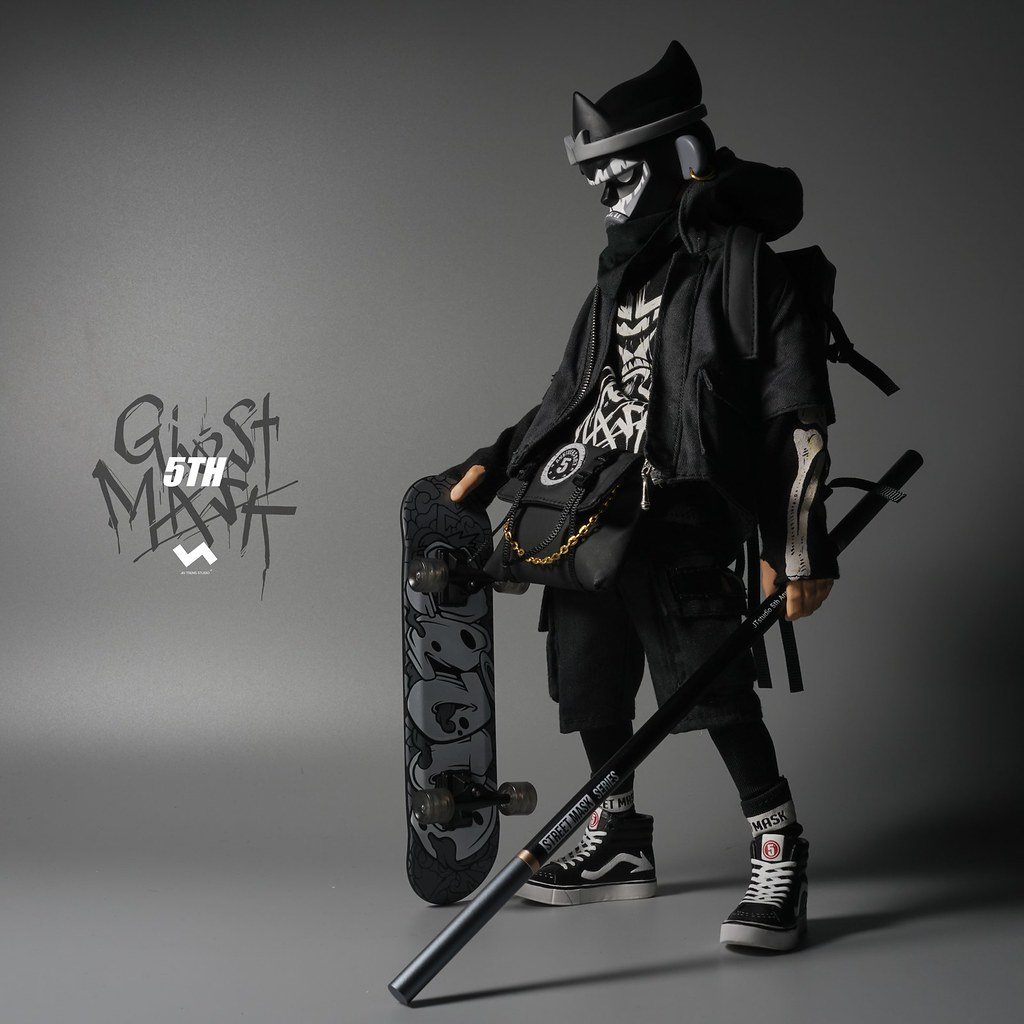 暗中活躍的黑色身影! J.T Studio Street Mask 系列 5TH 的影武者「鬼魅」(5th Ghost Mask) 1/6 比例人偶