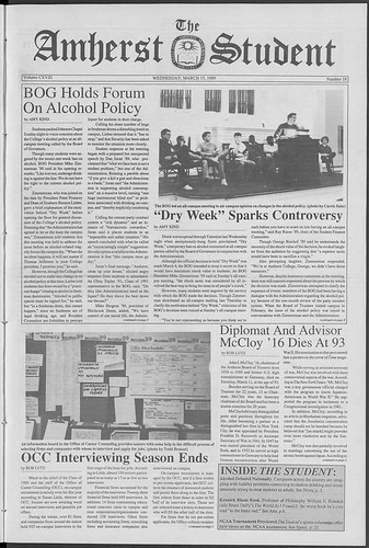 1989 Dry Week in Amherst Student