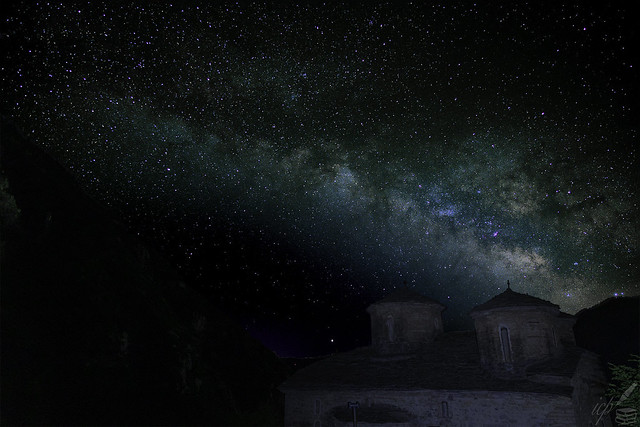 Eighteenth Century Abbey Beneath The Milky Way