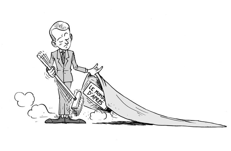 [15 Juin 2020] - Un jour, un dessin - Macron et son im-monde d'après