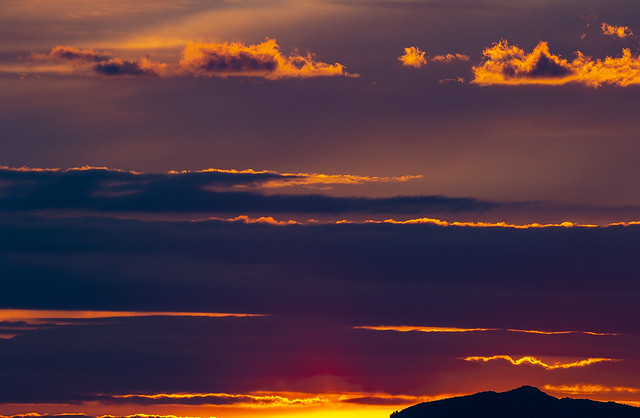 The colors of the Sunday sunset, Madrid, Spain