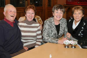 Anselem Lovett, Brigid Duffy, Madeline Argue (County Council), and Maura Sheridan; all old friends of Cavan CYMS.