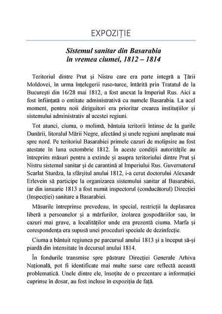 Expoziție virtuală: Sistemul sanitar din Basarabia în vremea ciumei, 1812-1814