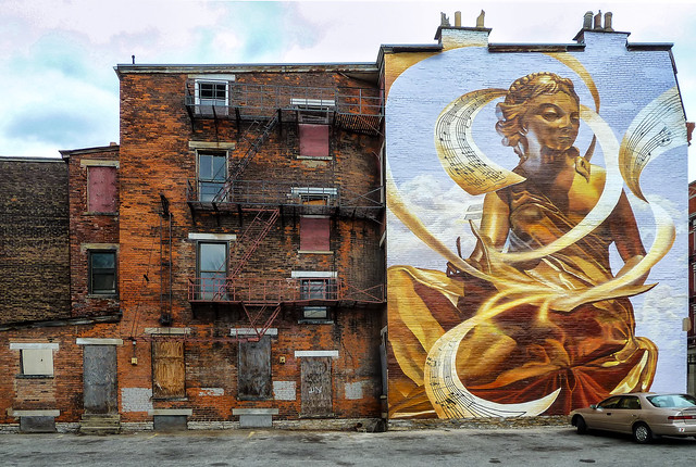 The Golden Muse Mural