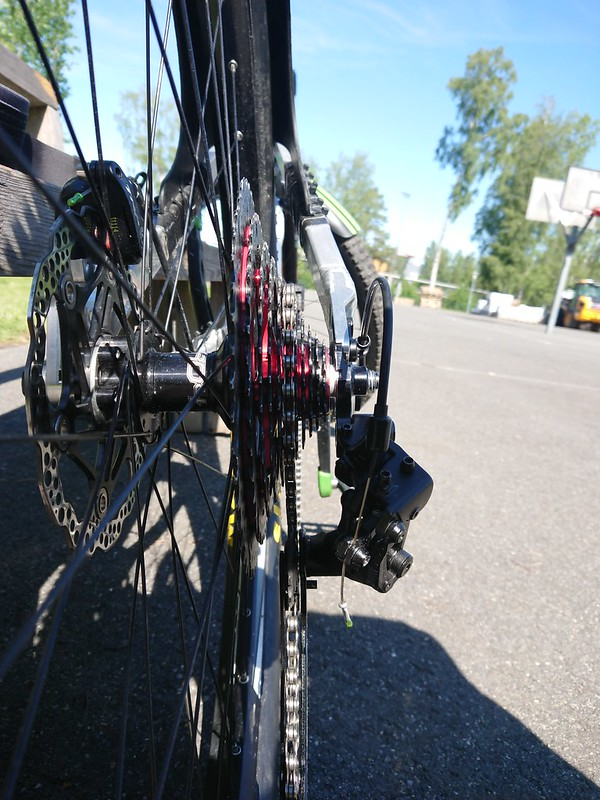 View of drivetrain from behind